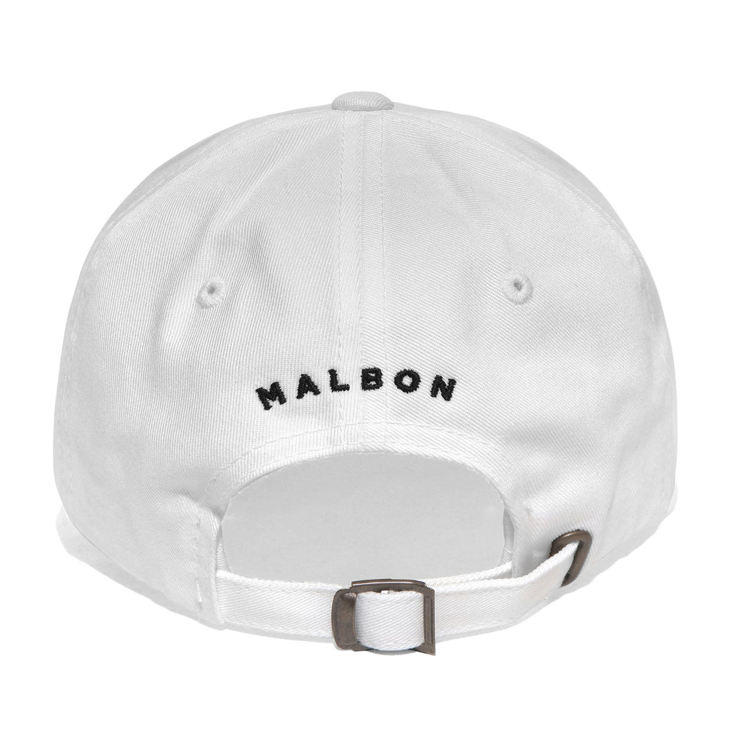 MALBON GOLF BUCKETS MINI LOGO DAD HAT (WHITE)