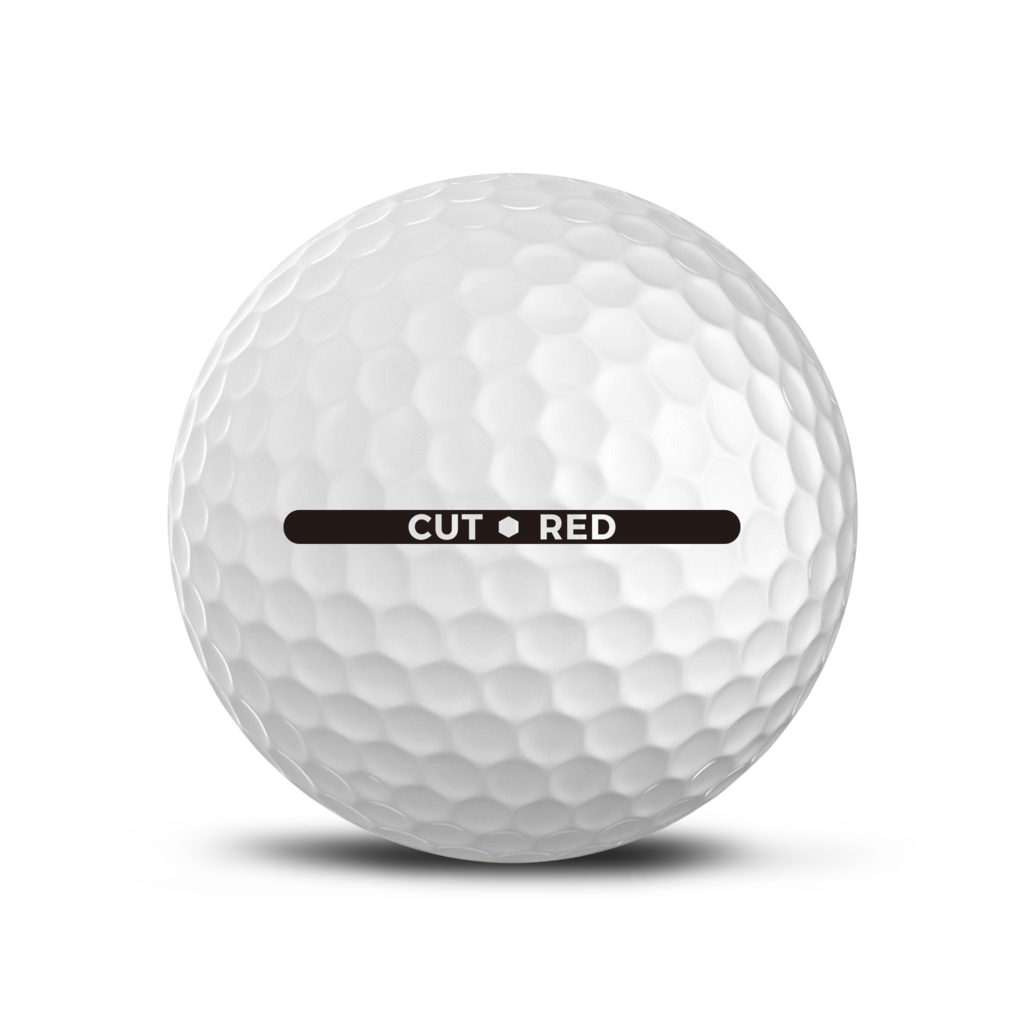 CUT GOLF BALLS - CUT RED