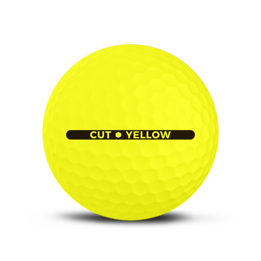 CUT GOLF BALLS - CUT YELLOW