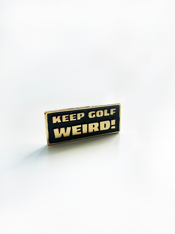KEEP GOLF WEIRD ENAMEL PIN