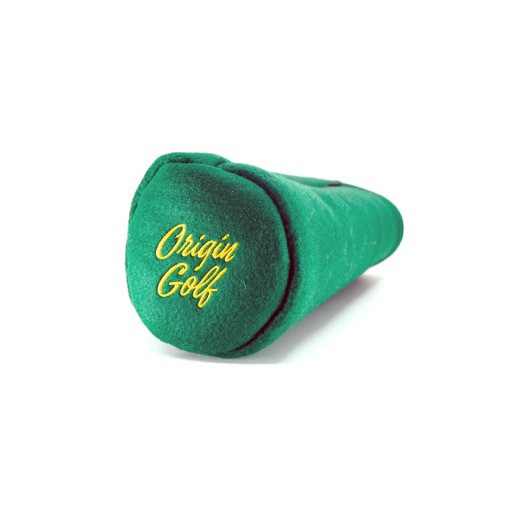 OG X REINLAND GOLF CO HEADCOVER (GREEN & GOLD)