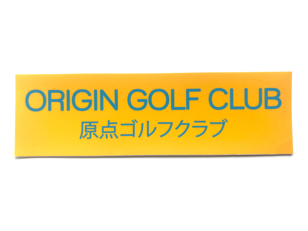 CLUB JAPAN STICKER (YELLOW)