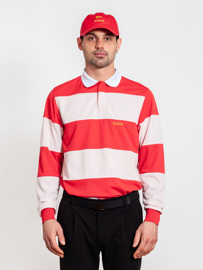 RADDA GOLF SHADOW CREEK RUGBY POLO (CHILLI RED)