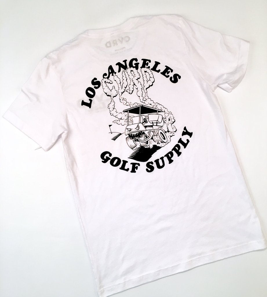 CVRD GOLF - THE GARAGE TEE - WHITE