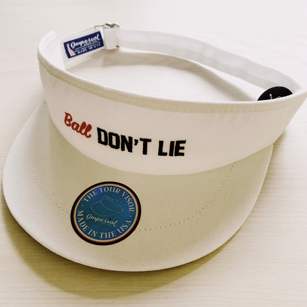 BALL DON'T LIE TOUR VISOR (WHITE)