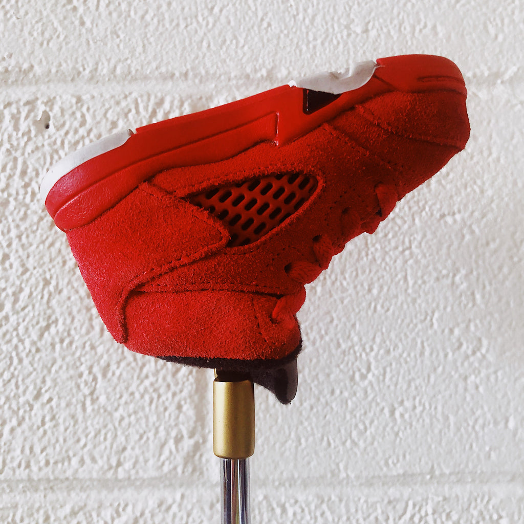 "AJ5 ""RED SUEDE"" PUTTER HEADCOVER"