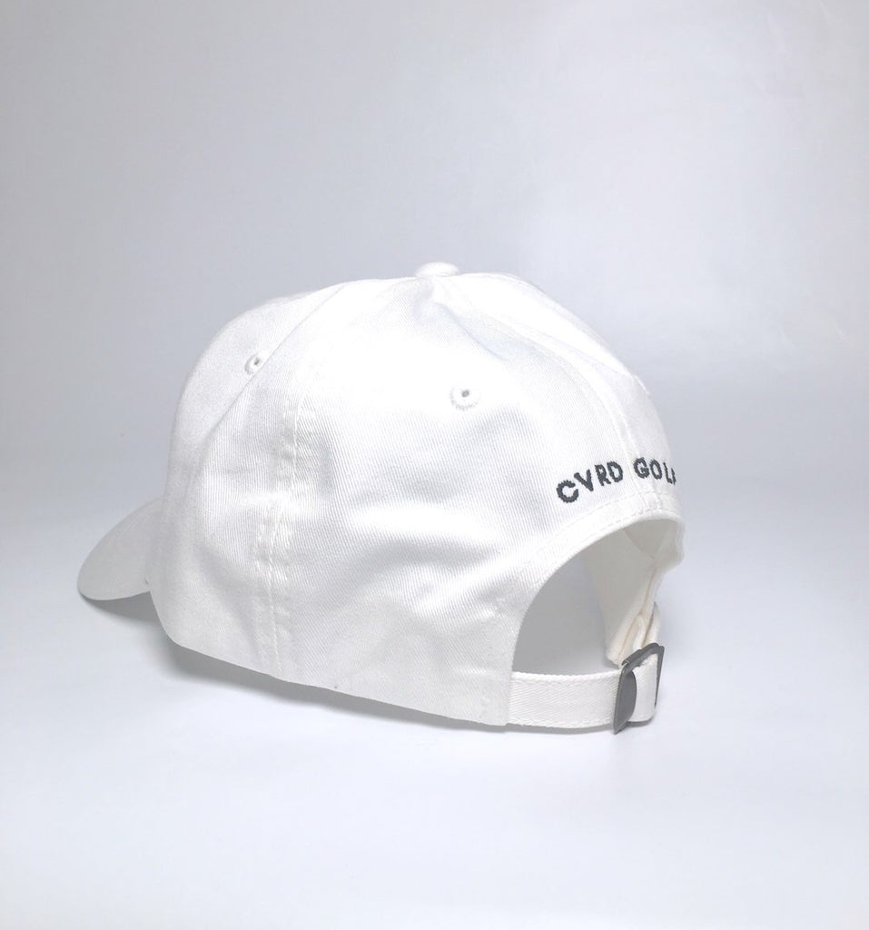 CVRD GOLF FANCY LOGO DAD HAT - WHITE