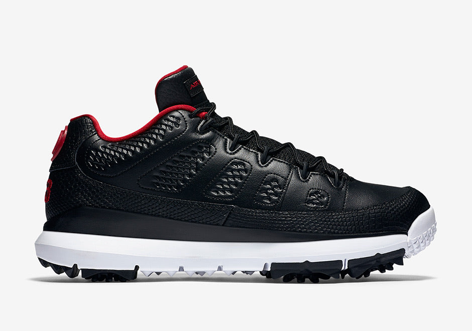 AIR JORDAN 9 GOLF SHOES - BLACK