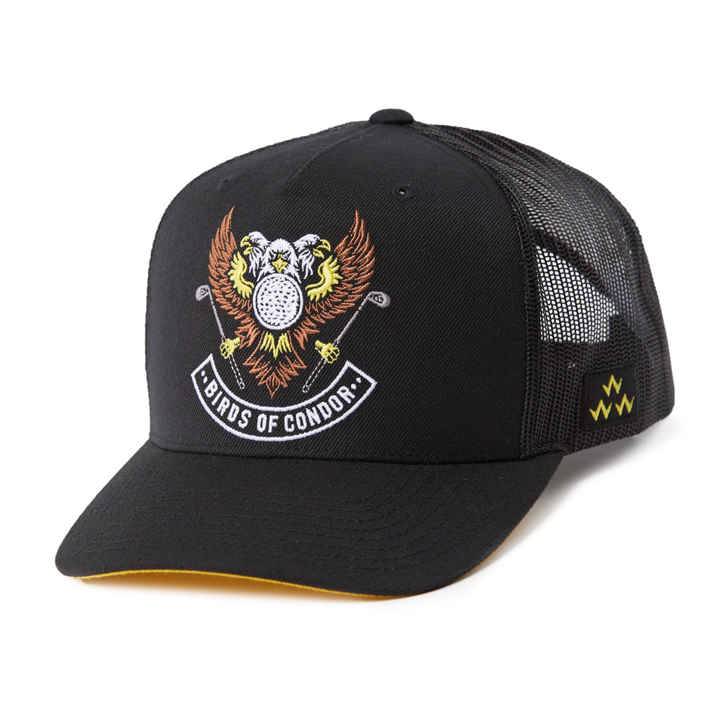 BIRDS OF CONDOR TRIPLE EAGLE CURVED TRUCKER HAT