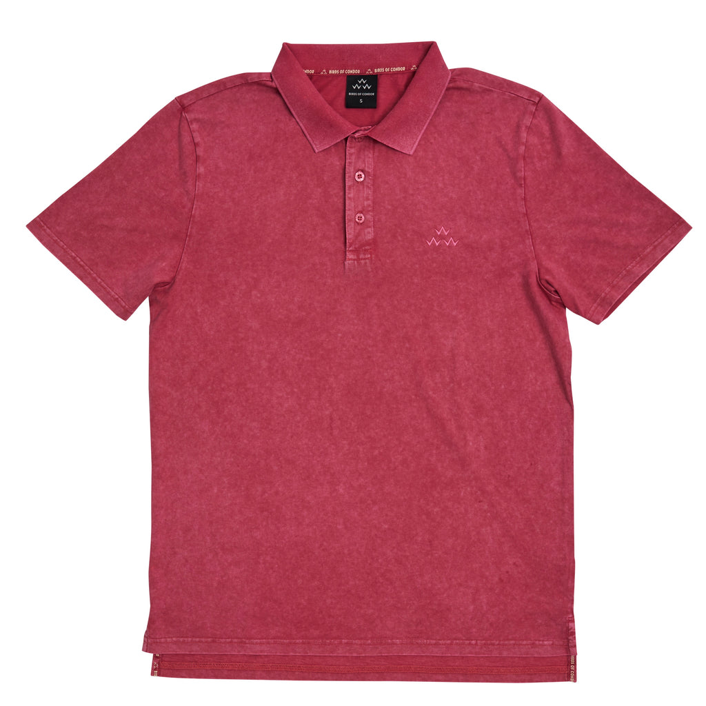BIRDS OF CONDOR TRIPLE EAGLE POLO (RED)