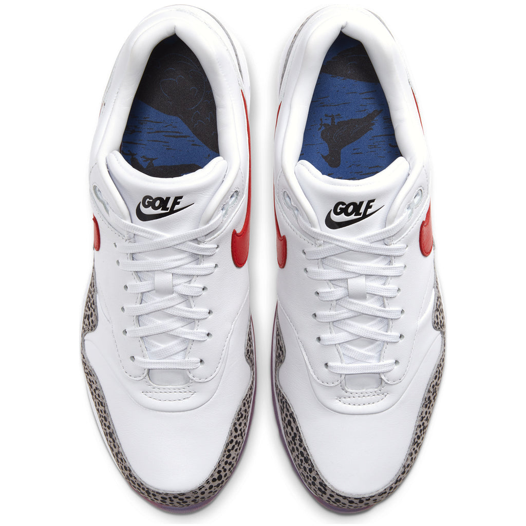 "NIKE AIR MAX 1 G NRG ""SAFARI"" - WHITE / HABANERO RED / GREY / BLACK"