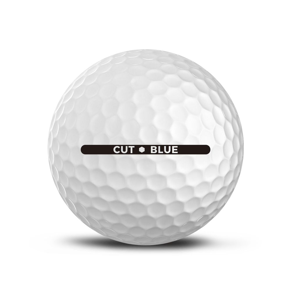 CUT GOLF BALLS -  CUT BLUE