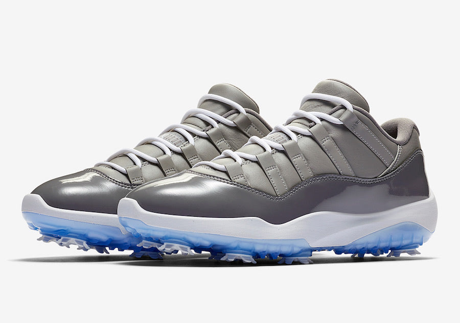 AIR JORDAN 11 GOLF SHOES (COOL GREY)