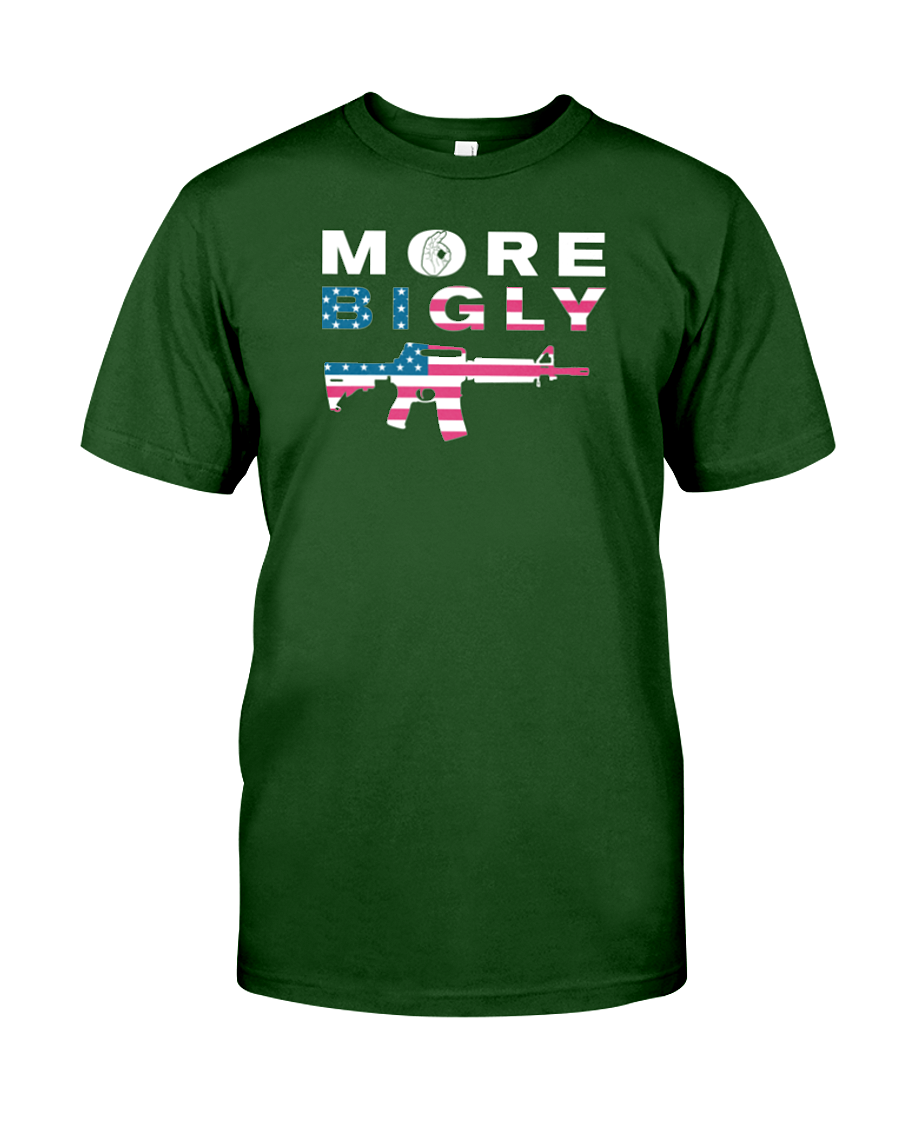 MAGA Bigly AR-15 Flag Rifle men's t-shirt