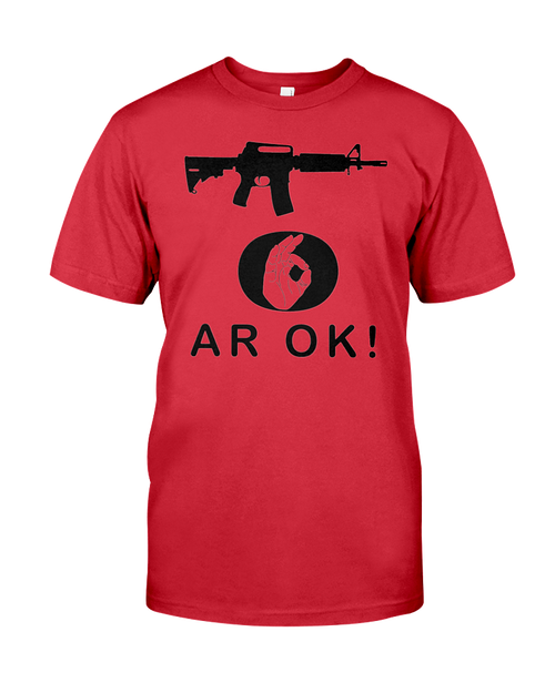 AR OK Black Rifle men's t-shirt red