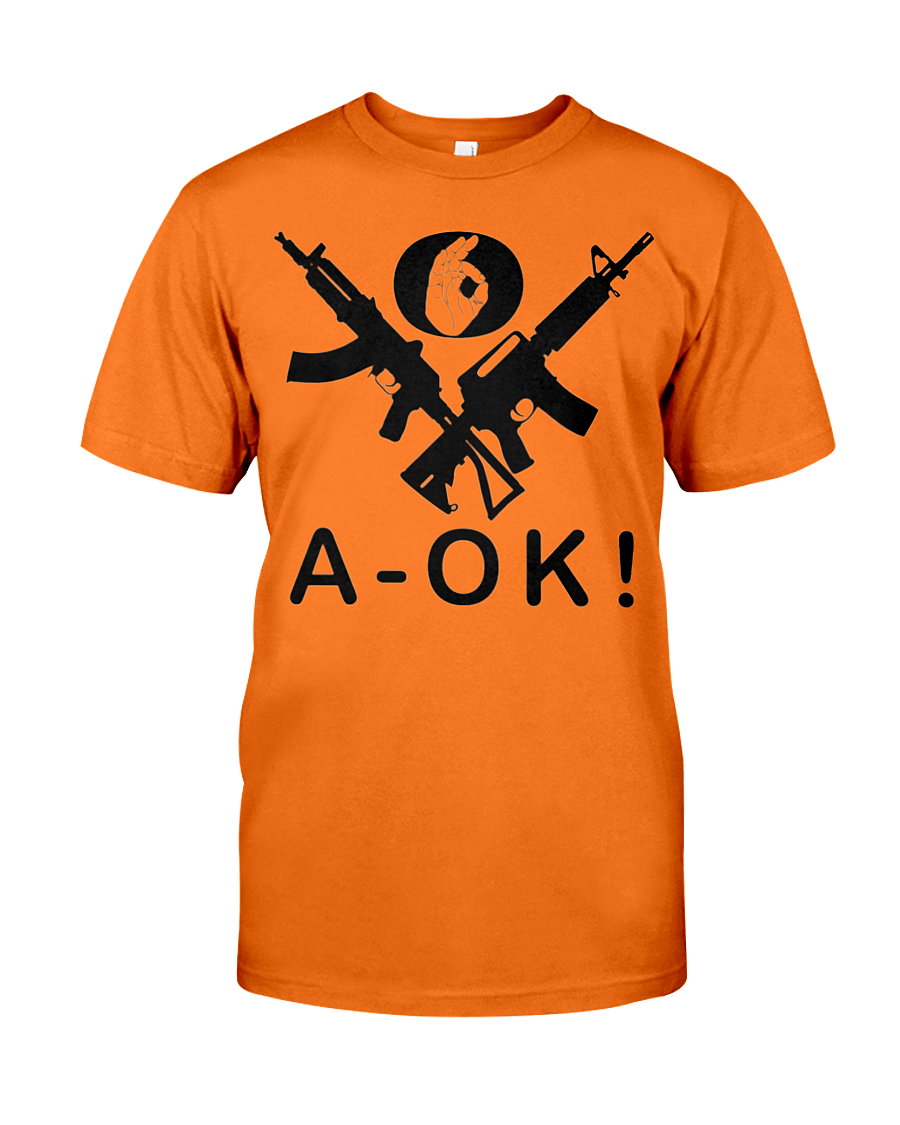 A-OK Hand Black Rifles men's t-shirt