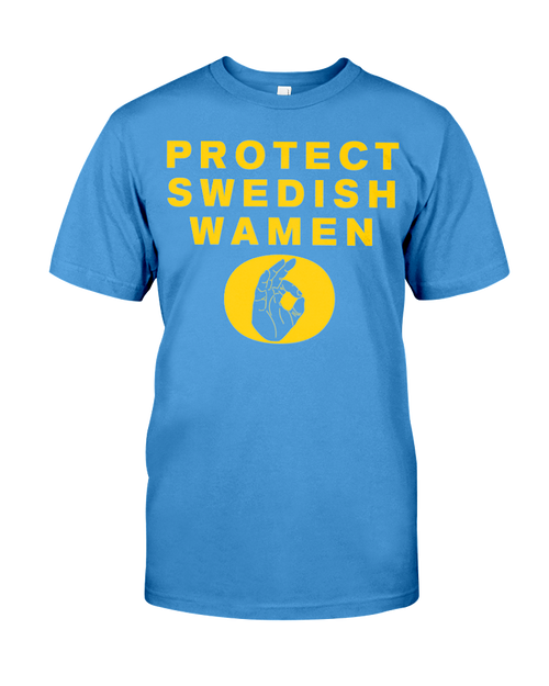 Protect Swedish Wamen OK Hand men's t-shirt blue & yellow