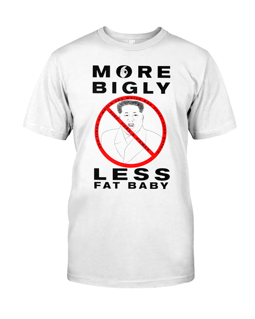 Fat Baby Kim Jong-un men's white t-shirt