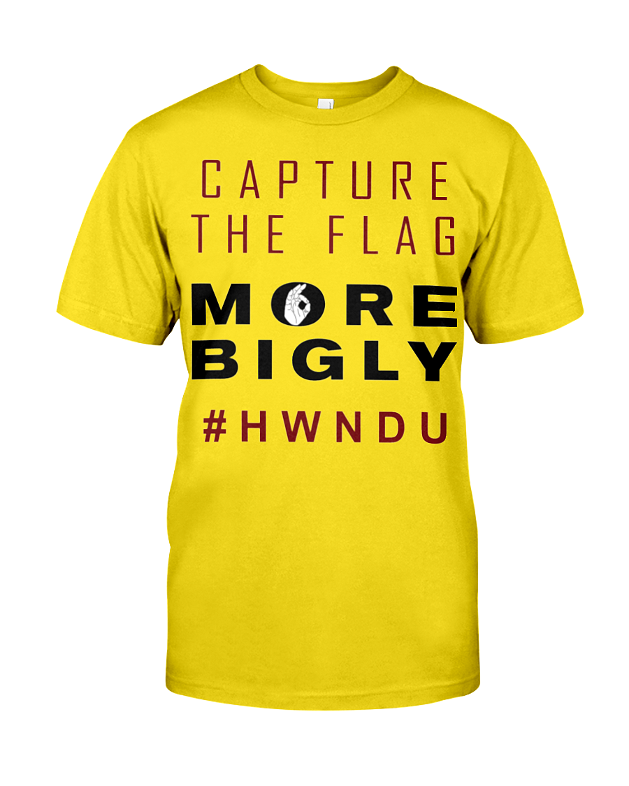HWNDU Capture the Flag men's t-shirt yellow