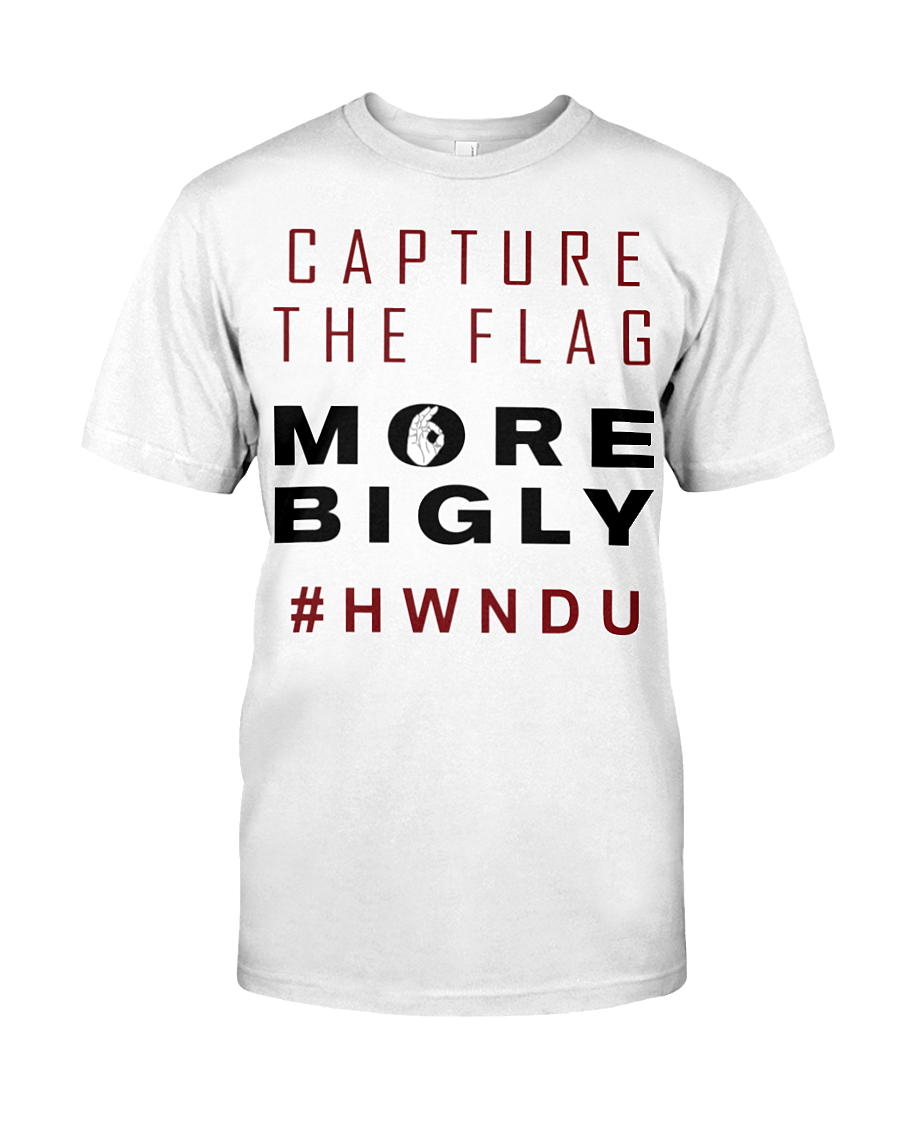 HWNDU Capture the Flag men's t-shirt white