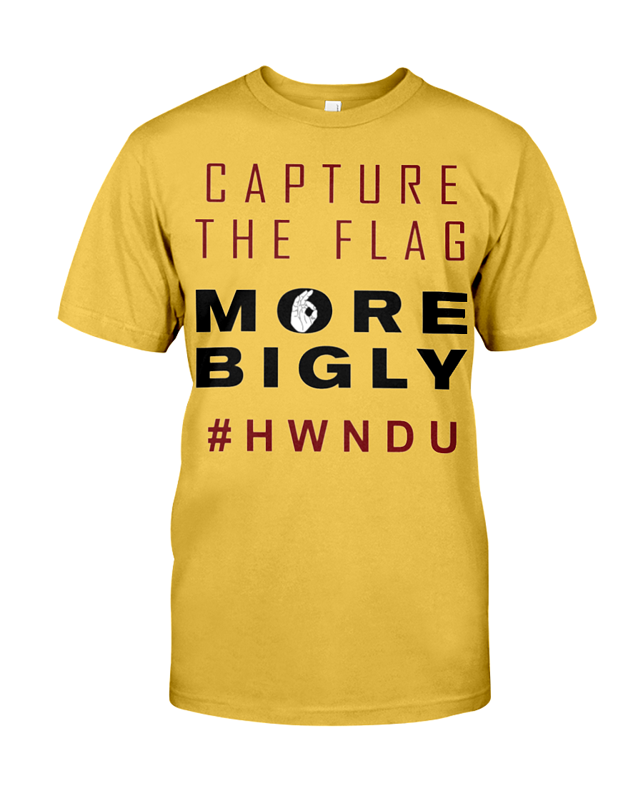 HWNDU Capture the Flag men's t-shirt gold