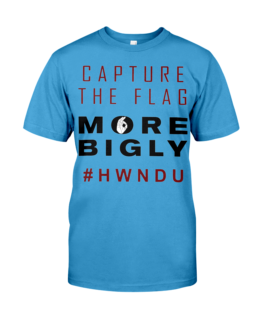 HWNDU Capture the Flag men's t-shirt blue