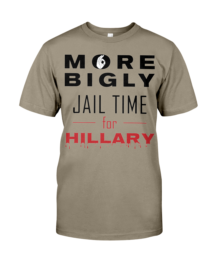 Hillary for Prison with Jail Time for Hillary men's t-shirt safari