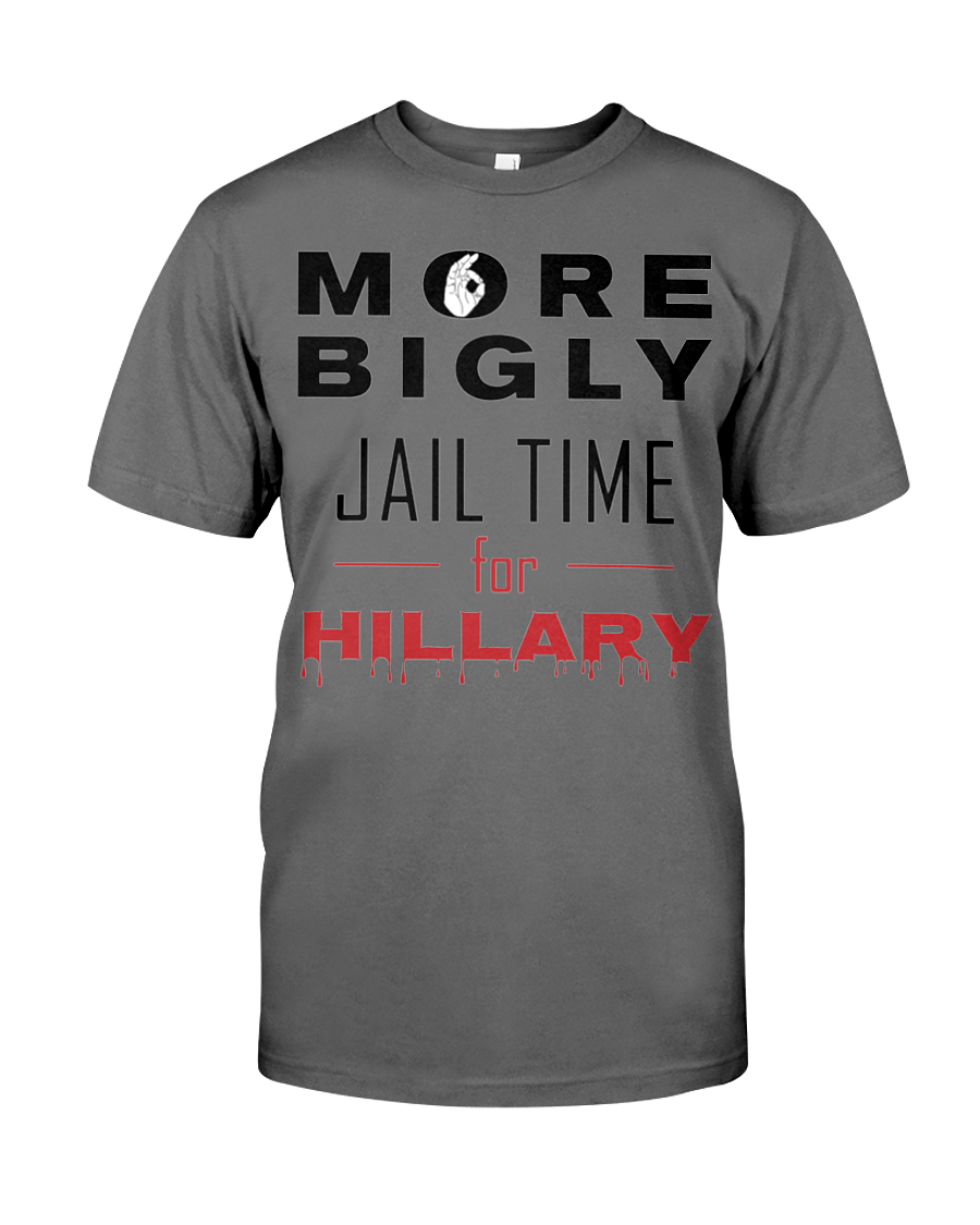 Hillary for Prison with Jail Time for Hillary men's t-shirt grey