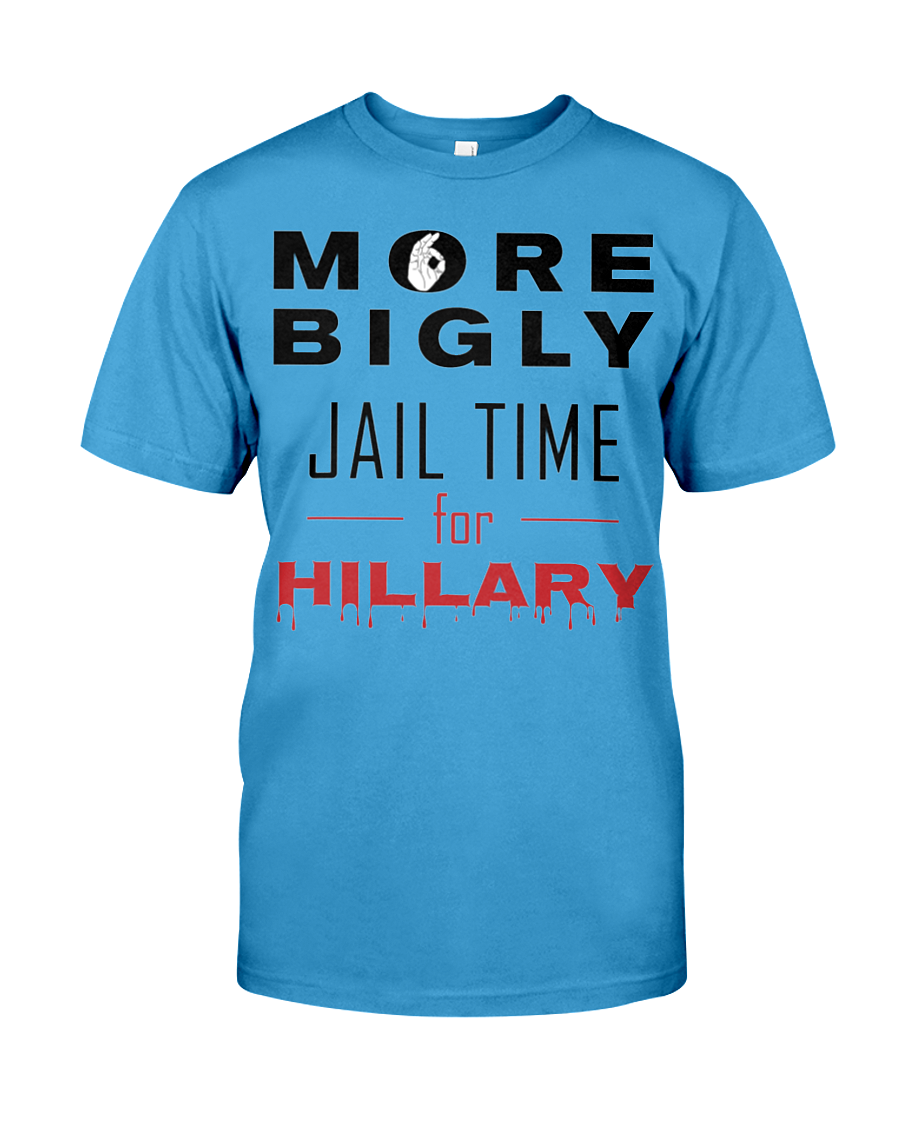 Hillary for Prison with Jail Time for Hillary men's t-shirt blue