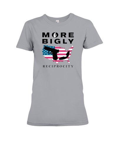 Bigly Capacity Mags & Hearing Protection Act women's t-shirt