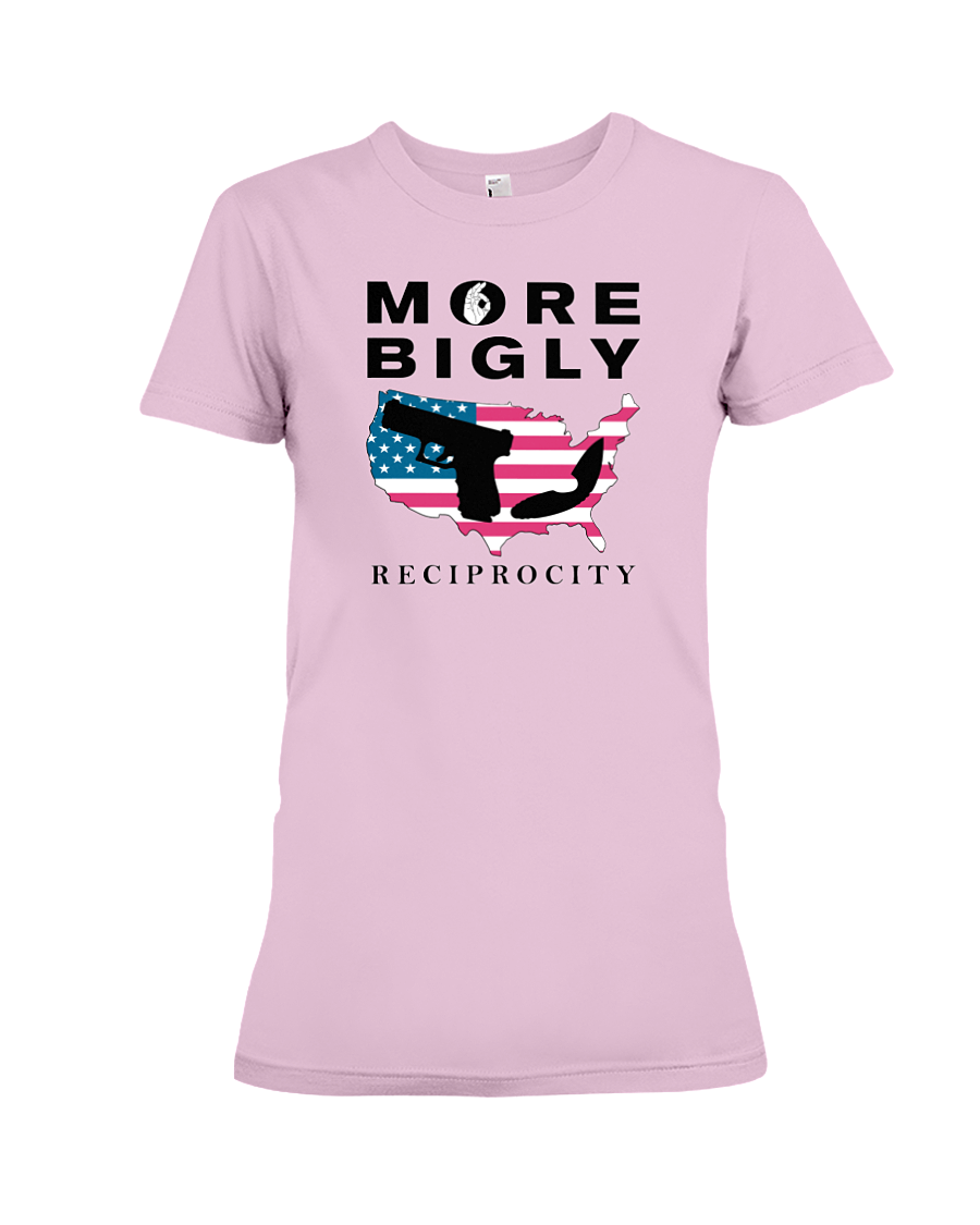 Concealed Carry Reciprocity women's t-shirt pink