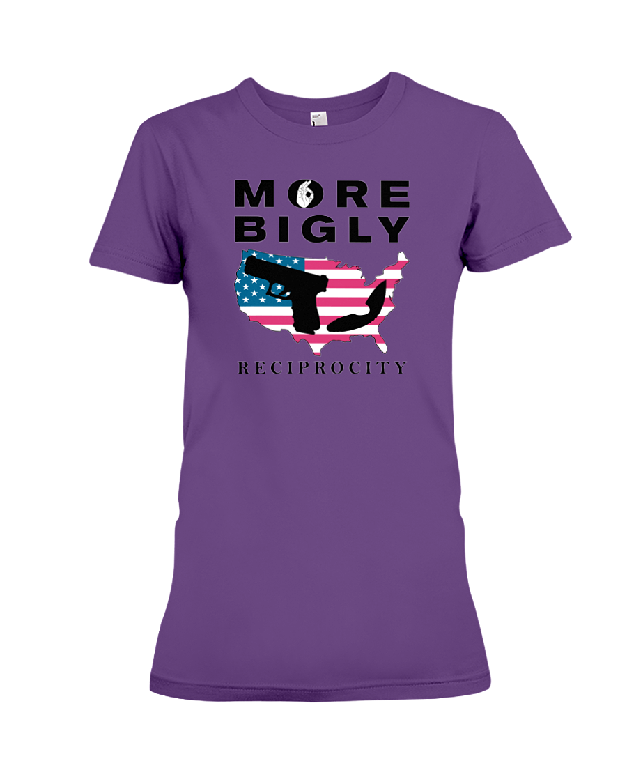 Concealed Carry Reciprocity women's t-shirt purple