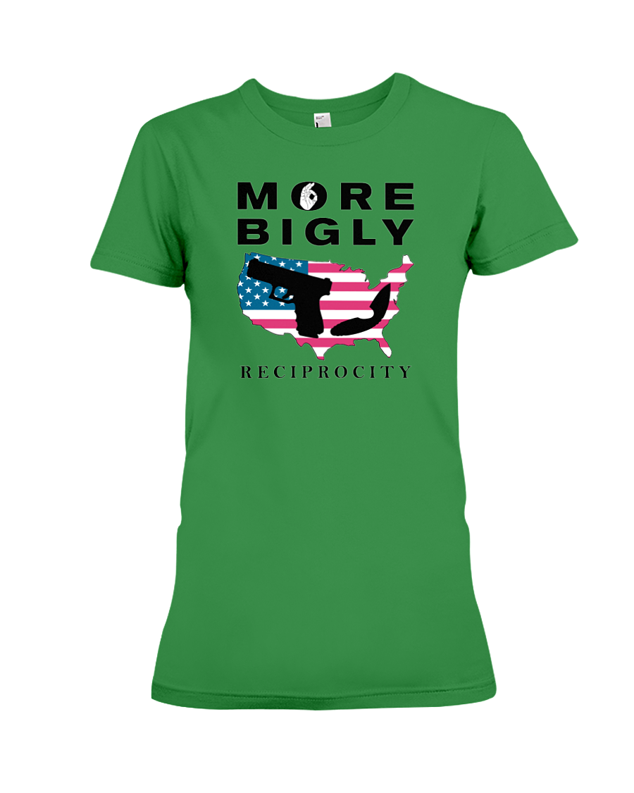 Concealed Carry Reciprocity women's t-shirt green