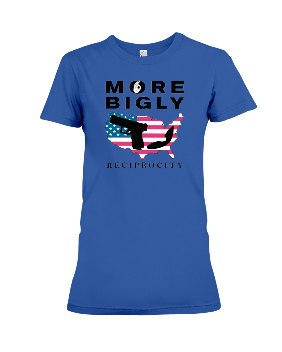 Concealed Carry Reciprocity women's t-shirt blue