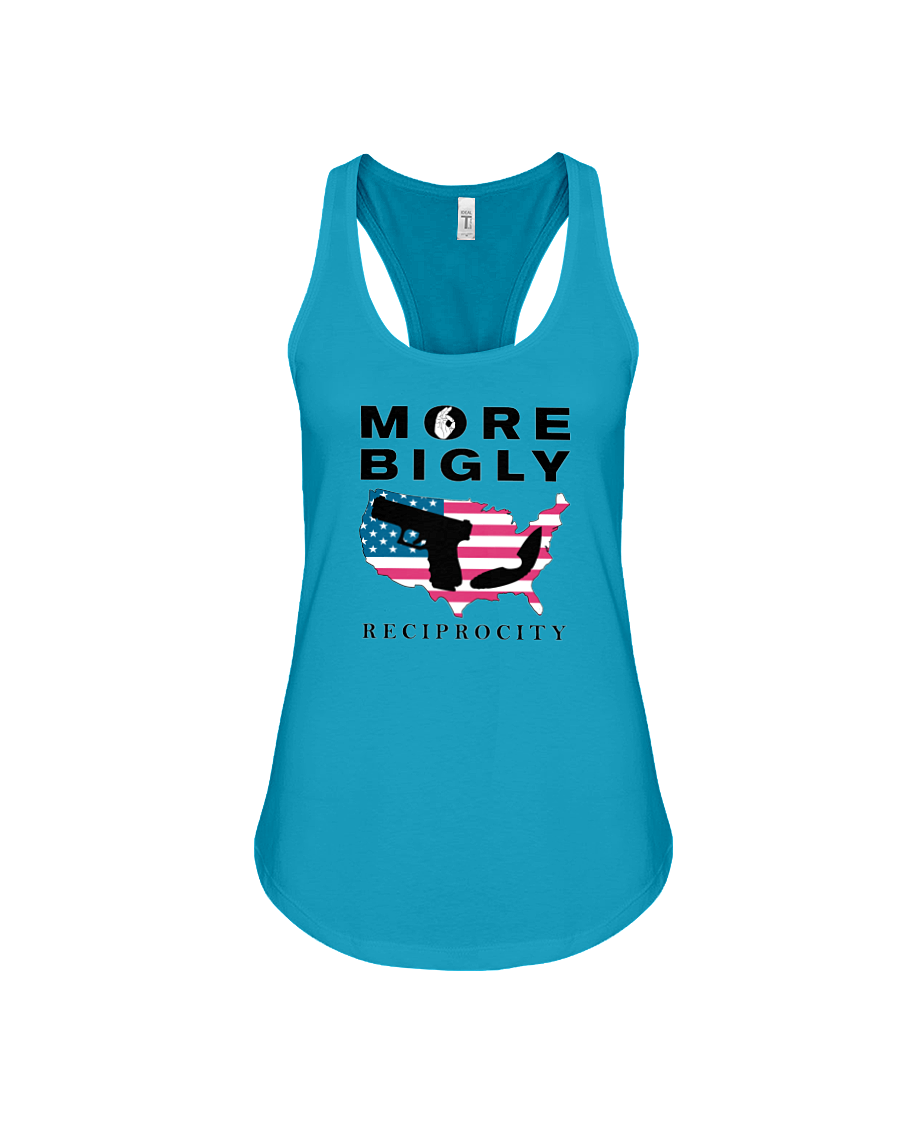 Concealed Carry Reciprocity women's tank top teal