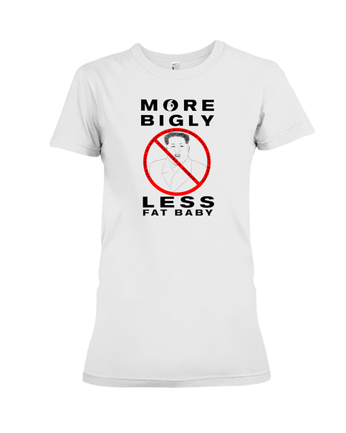 Less Fat Baby Kim Jong-un women's t-shirt