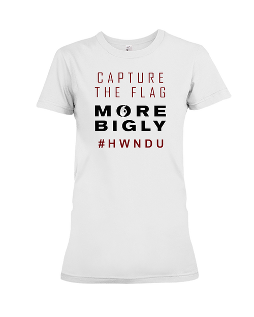 HWNDU Capture the Flag women's t-shirt white