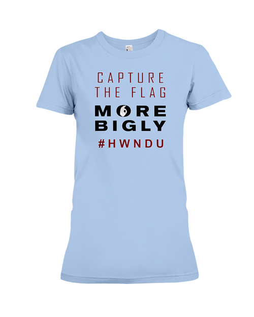 HWNDU Capture the Flag women's t-shirt blue