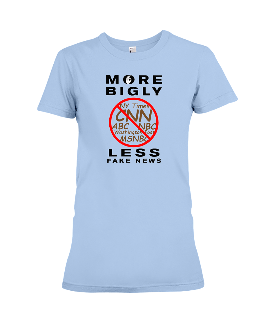 Fake News women's t-shirt light blue
