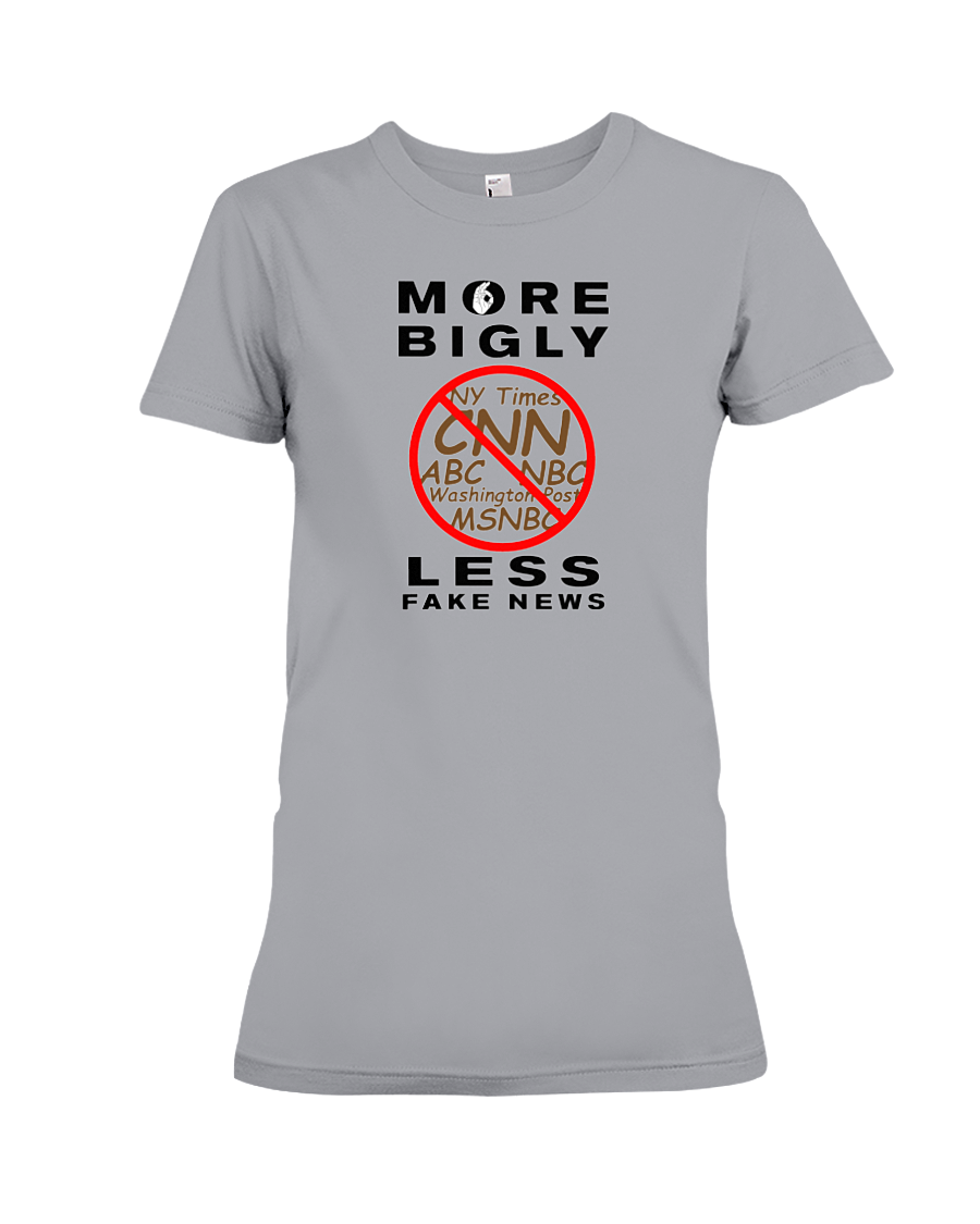 Fake News women's t-shirt grey