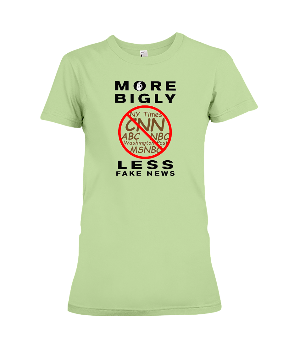 Fake News women's t-shirt green