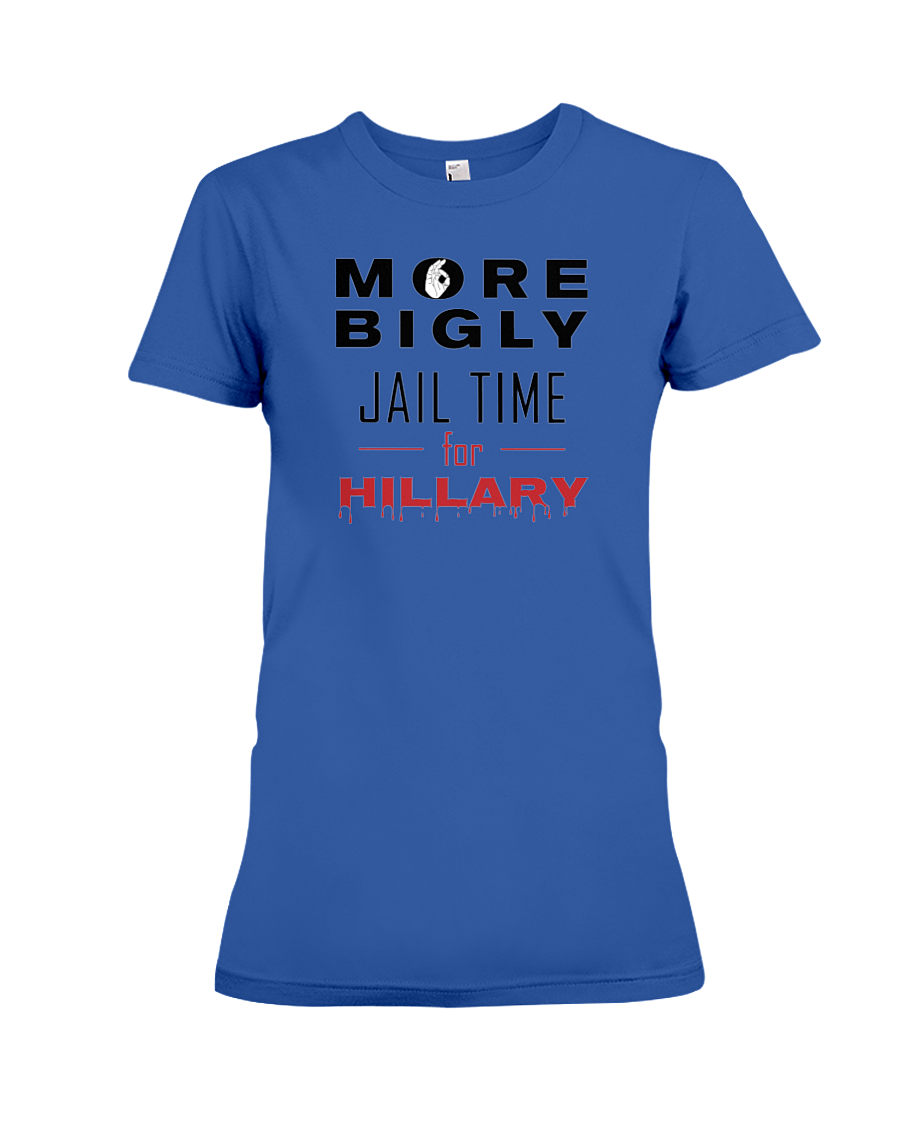 Jail Time for Hillary women's t-shirt royal blue