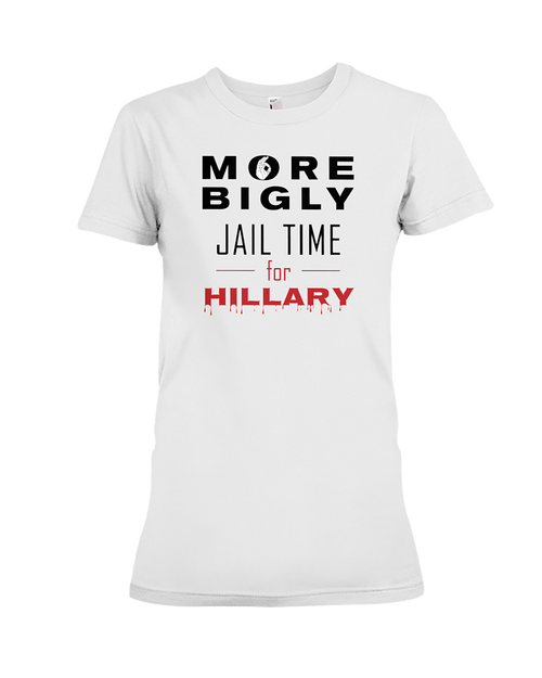 Jail Time for Hillary women's t-shirt white
