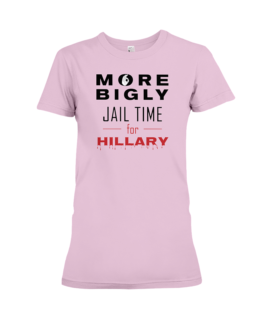 Jail Time for Hillary women's t-shirt pink