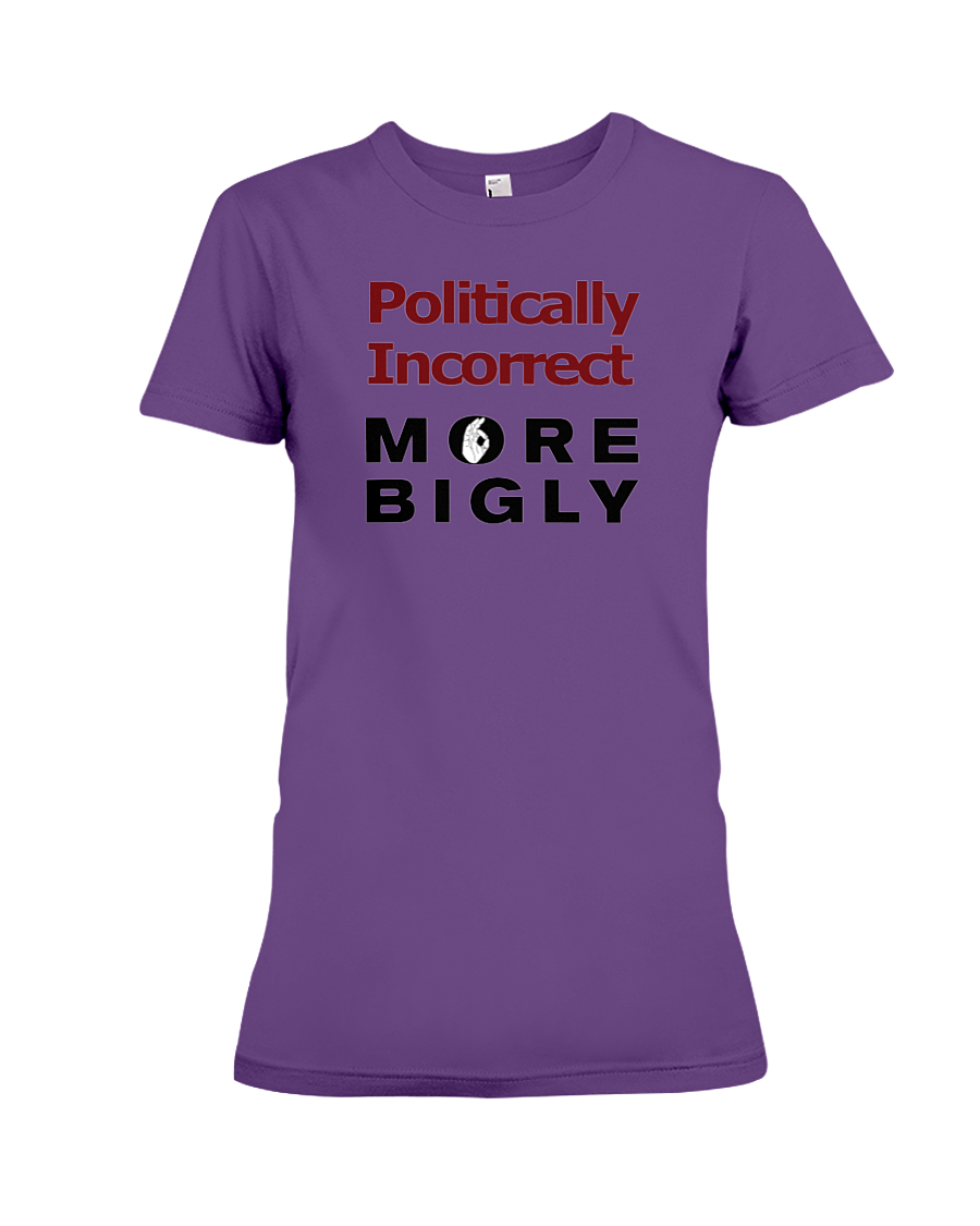 Politically Incorrect women's t-shirt purple