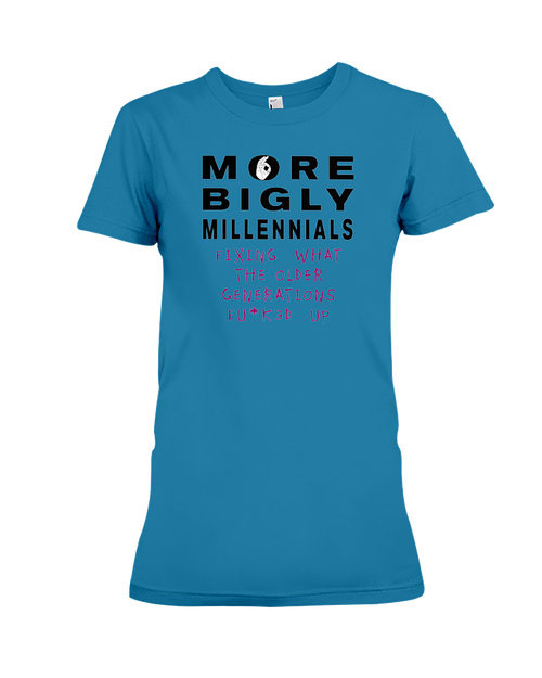 Millennials Fixing Problems women's t-shirt sapphire