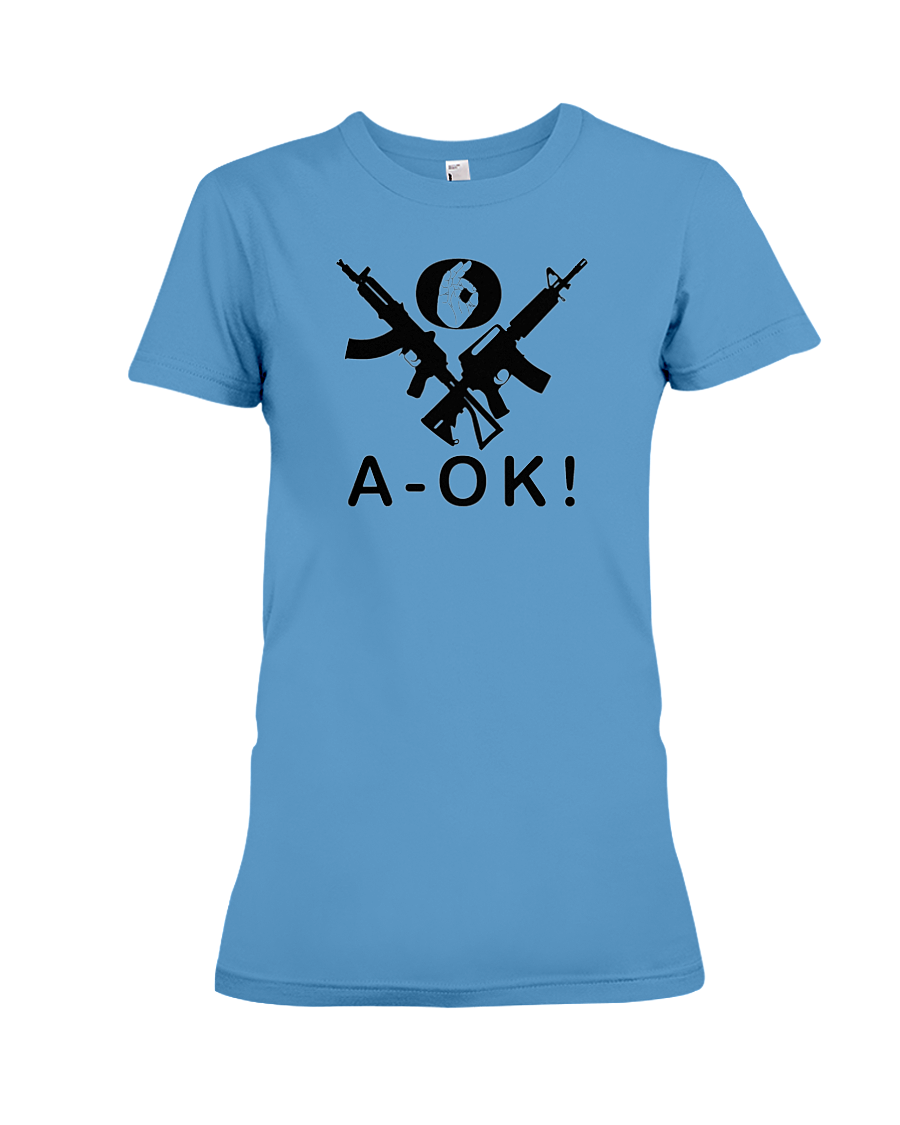 A-OK Hand Black Rifles women's t-shirt iris