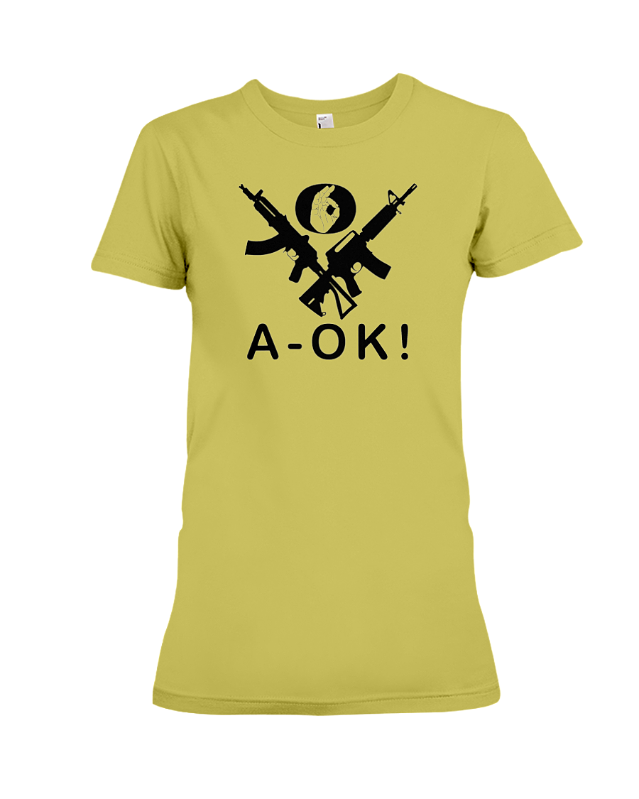 A-OK Hand Black Rifles women's t-shirt daisy