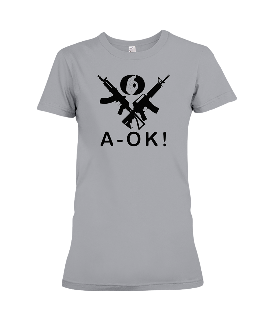 A-OK Hand Black Rifles women's t-shirt sports grey