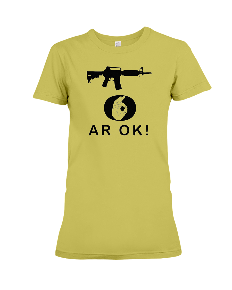 AR OK Black Rifle women's t-shirt daisy